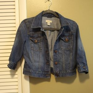 Ann Taylor Loft Cropped Denim Jacket